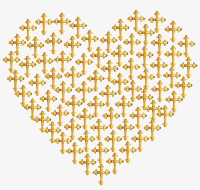 Gold Heart Computer Icons Metal - Clip Art Transparent PNG