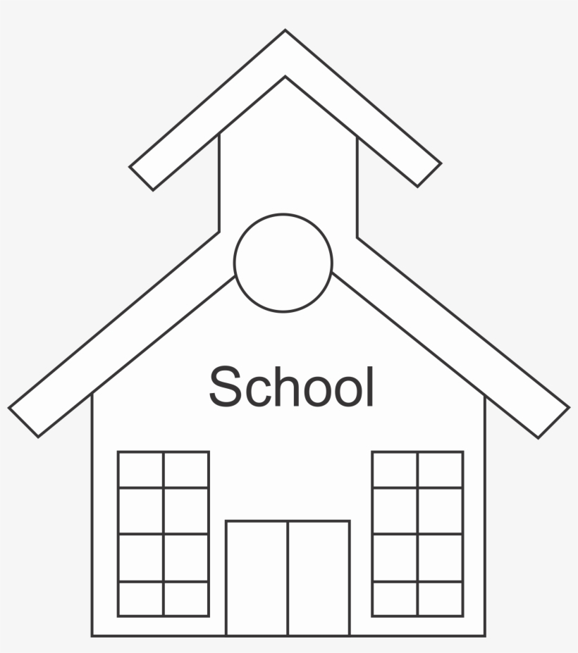 28 Collection Of School Clipart Black And White Png Outline Of