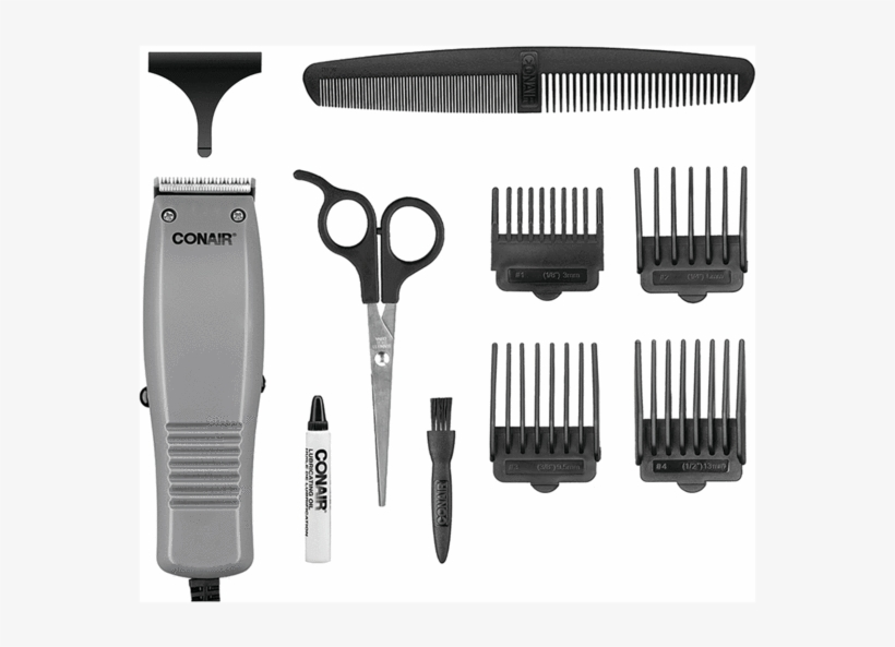 Conair Special Styles Combo Kit- Interchangeable Parts Transparent