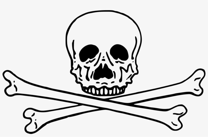 17218 pirate skull and crossbones clip art free | Public domain vectors