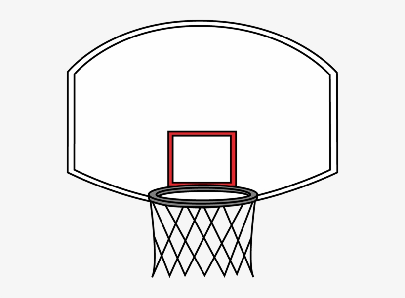 Playground Clipart Basketball Court - Basketball Hoop Coloring ... | 604x820