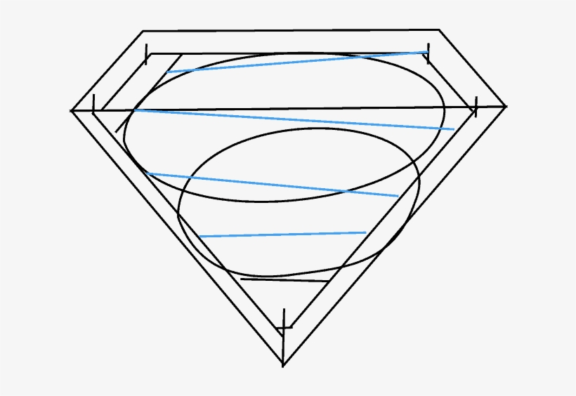 How To Draw Superman Logo Easy Step Drawing Guides Illustration
