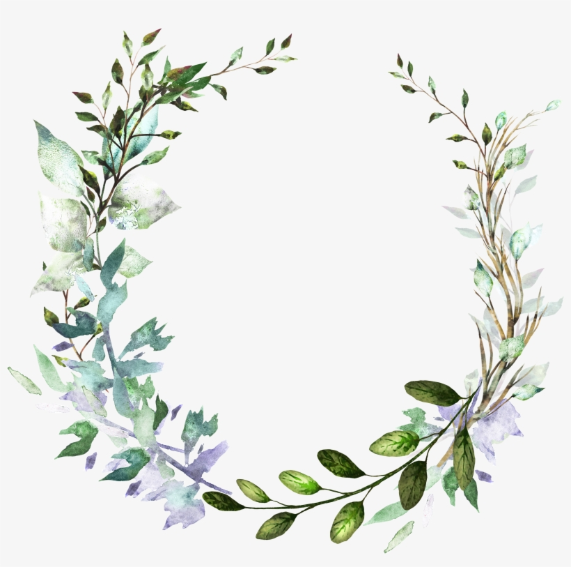 H804 Wreath Watercolor Watercolor Drawing Floral Transparent Png 3976x3602 Free Download On Nicepng
