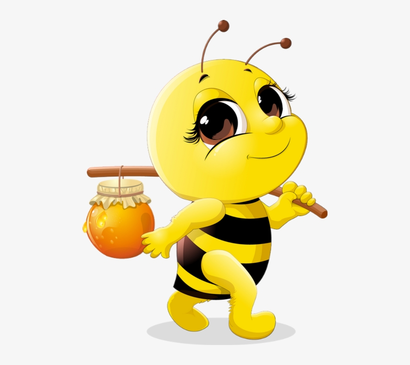 Abeille Dessin Tube Funny Bee Clipart Abeja Png Png Cute Honey Bee Cartoon Transparent Png 490x650 Free Download On Nicepng