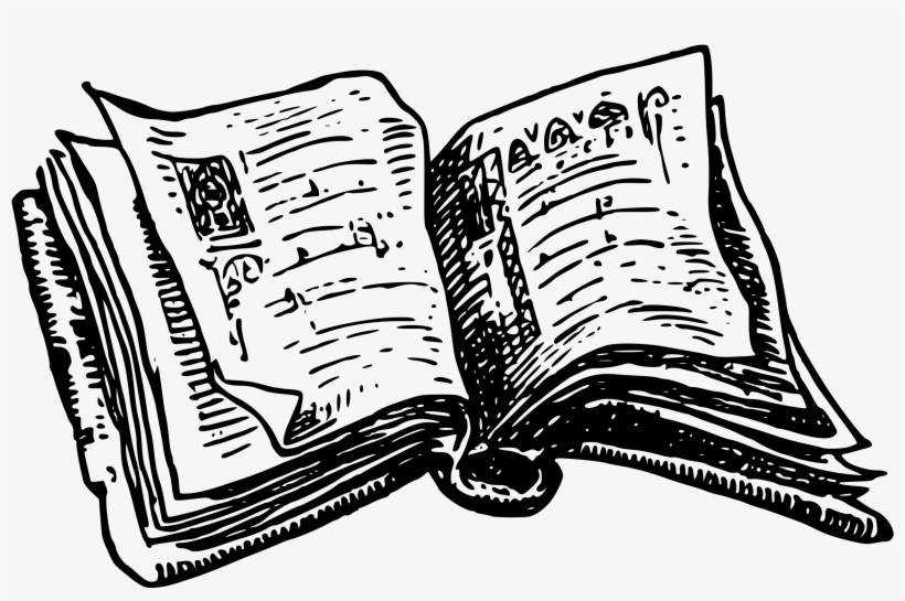 28 Collection Of Books Drawing Png Black And White Open Book Clip