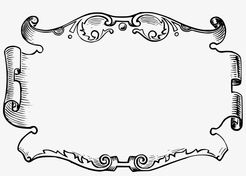 White Clipart Frame Png Pergamino Png Blanco Y Negro Transparent