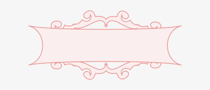 Banner pastel. Vector border clipart transparent