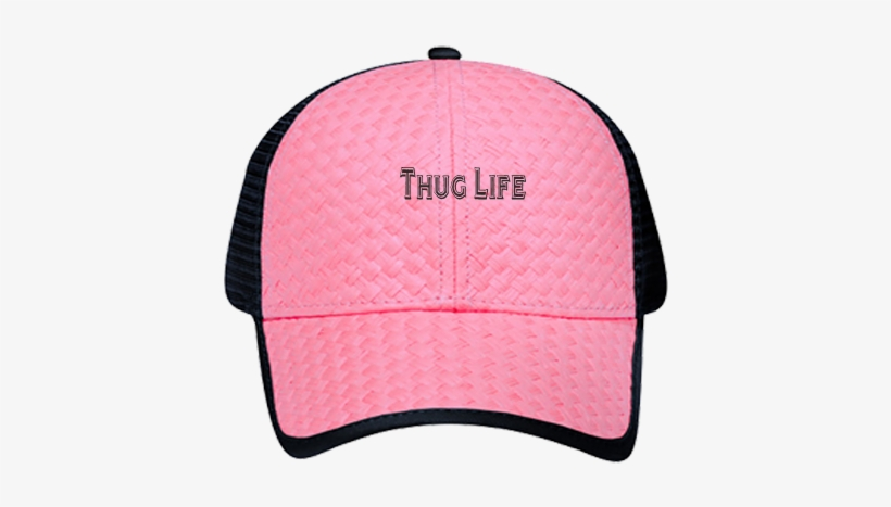 f1619ff8 Custom Heat Pressed Low Pro Trucker Style Otto Cap - Thug Life Pink Hat Png