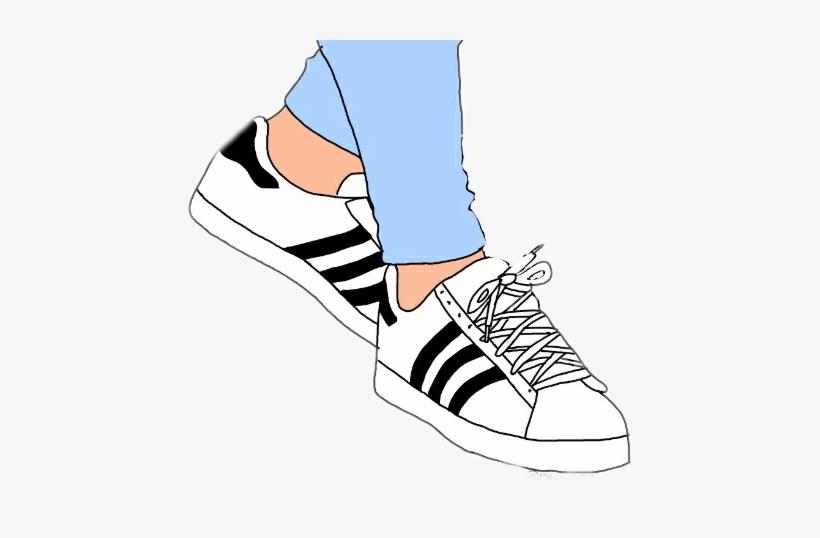 Swoosh Nike Logo Clip Art , Cartoon Adidas Shoe Drawing