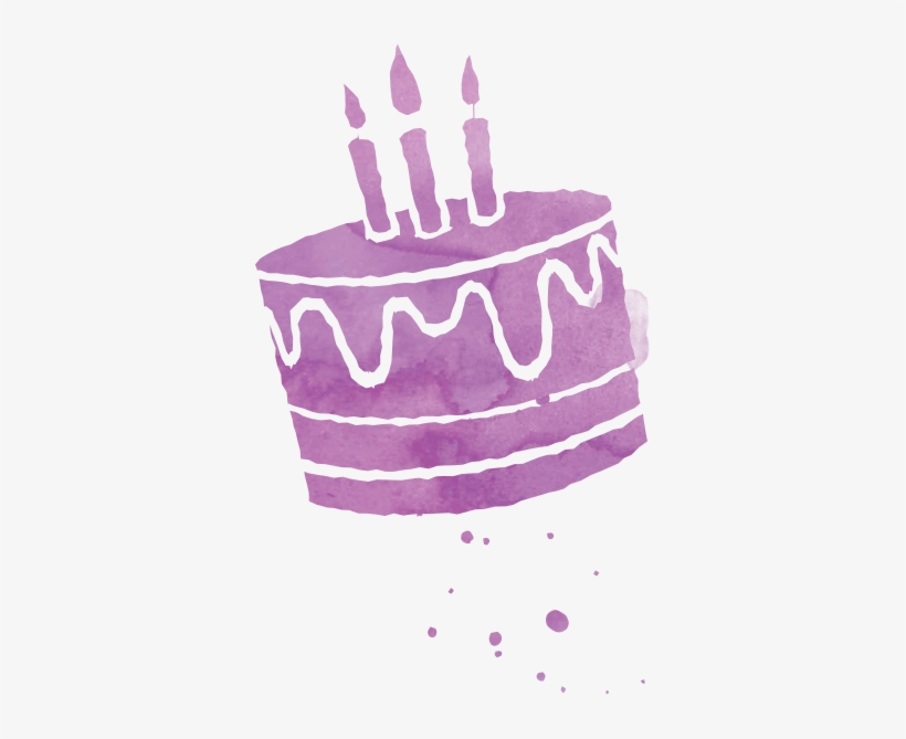 Sensational Purple Birthday Cake Png Transparent Png 357X589 Free Download Personalised Birthday Cards Rectzonderlifede
