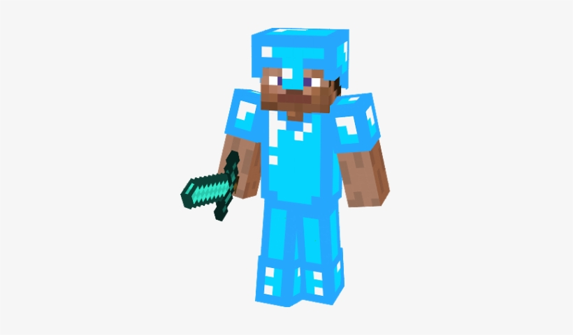Diamant Steve Steve Minecraft With Diamond Sword And Armor