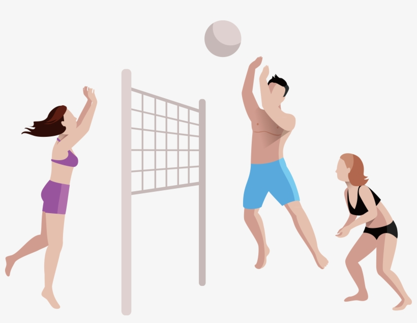Volleyball Girl Png Beach Volleyball Cartoon Png Transparent Png 3750x2723 Free Download On Nicepng