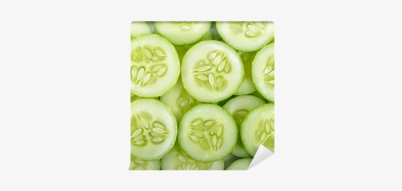 Close Up Cucumber Slice Background Texture Wall Mural It S