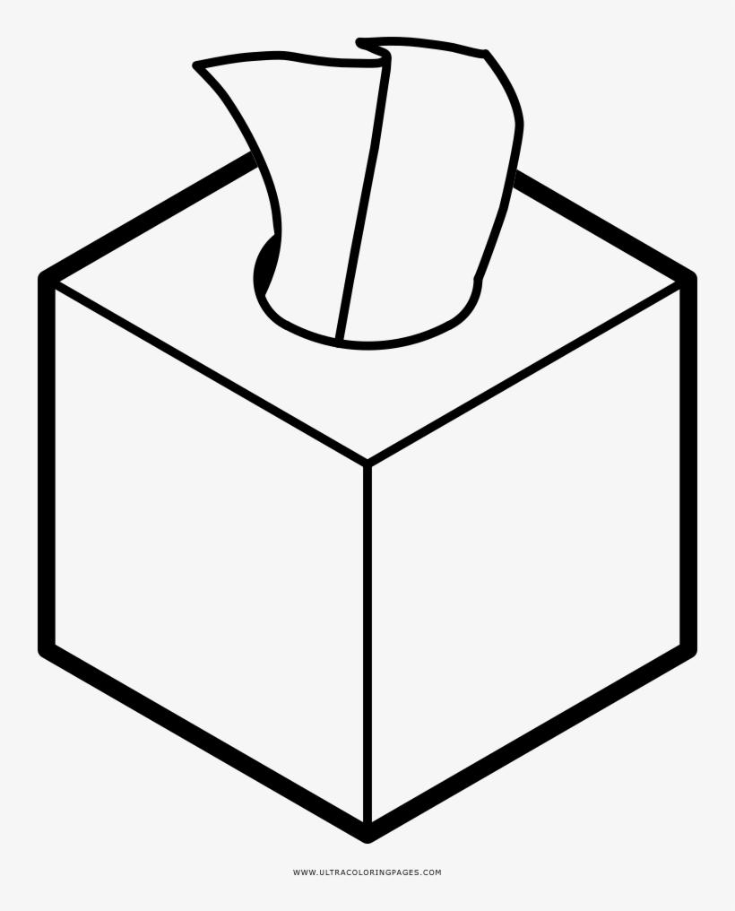 Tissue Box Coloring Page Fazzoletti Da Colorare Transparent Png