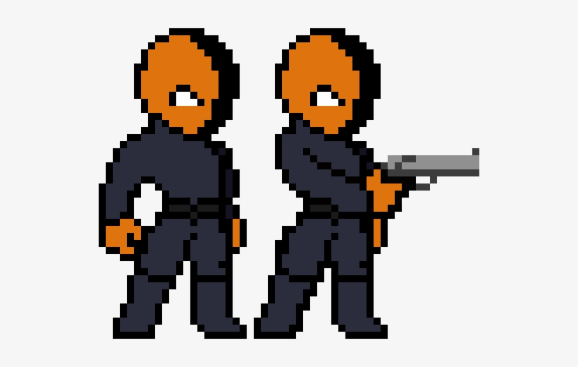 Deathstroke Model Pixel Art Transparent Png 540x440