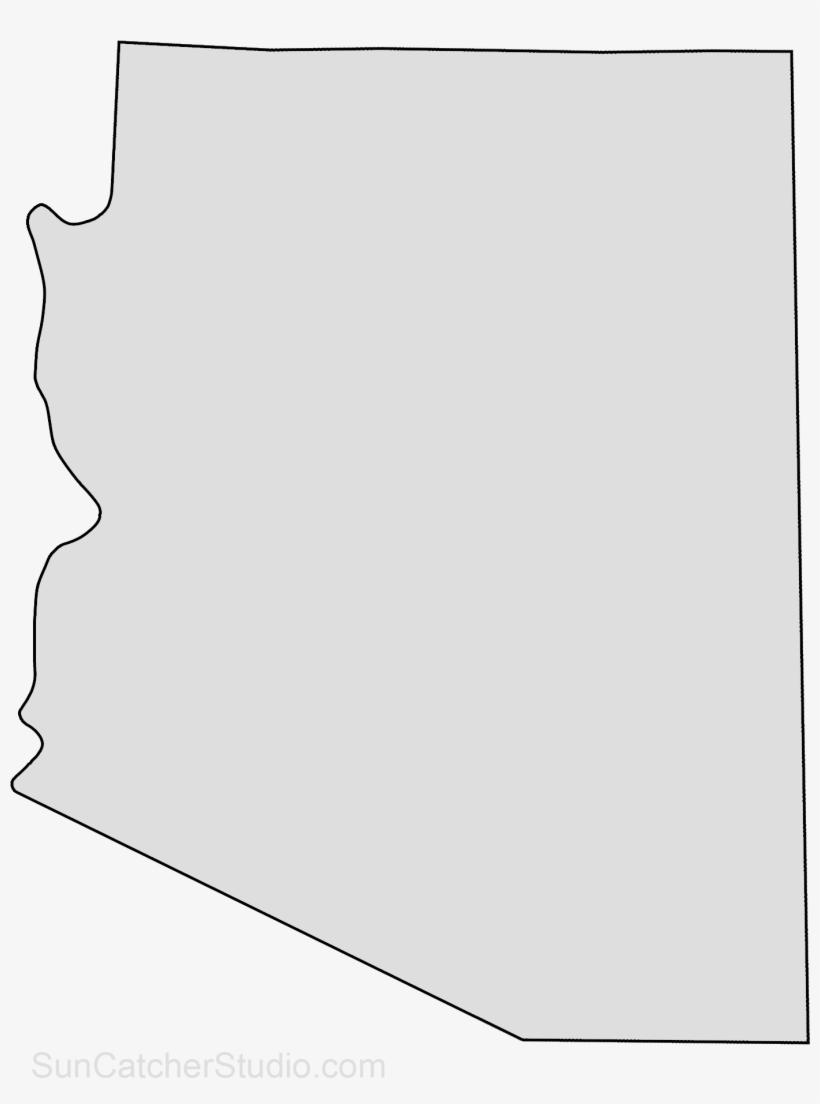 Arizona State Map Free.Arizona Map Outline Png Shape State Stencil Clip Art Arizona State