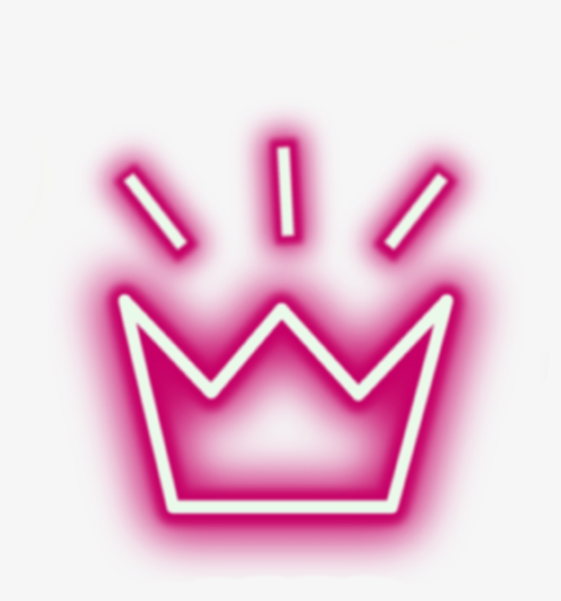 Sticker Crown Neon Lights Tumblr Aesthetic Crowns Png - Crown Light