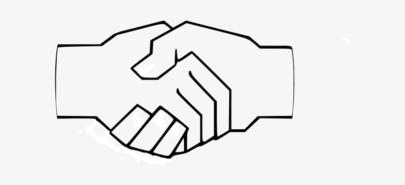 Simple Handshake Clip Art At Clker Draw A Hand Shake Transparent