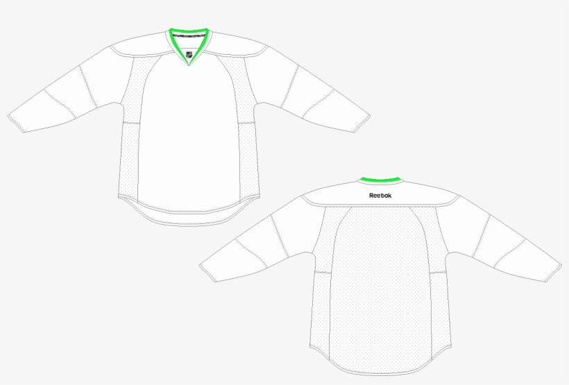 Blank Hockey Jersey Template - Long Sleeve Motocross Jersey
