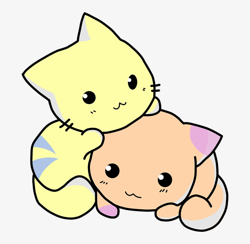 Kitten Clipart Adorable Cute Cat Cartoon Png Transparent Png