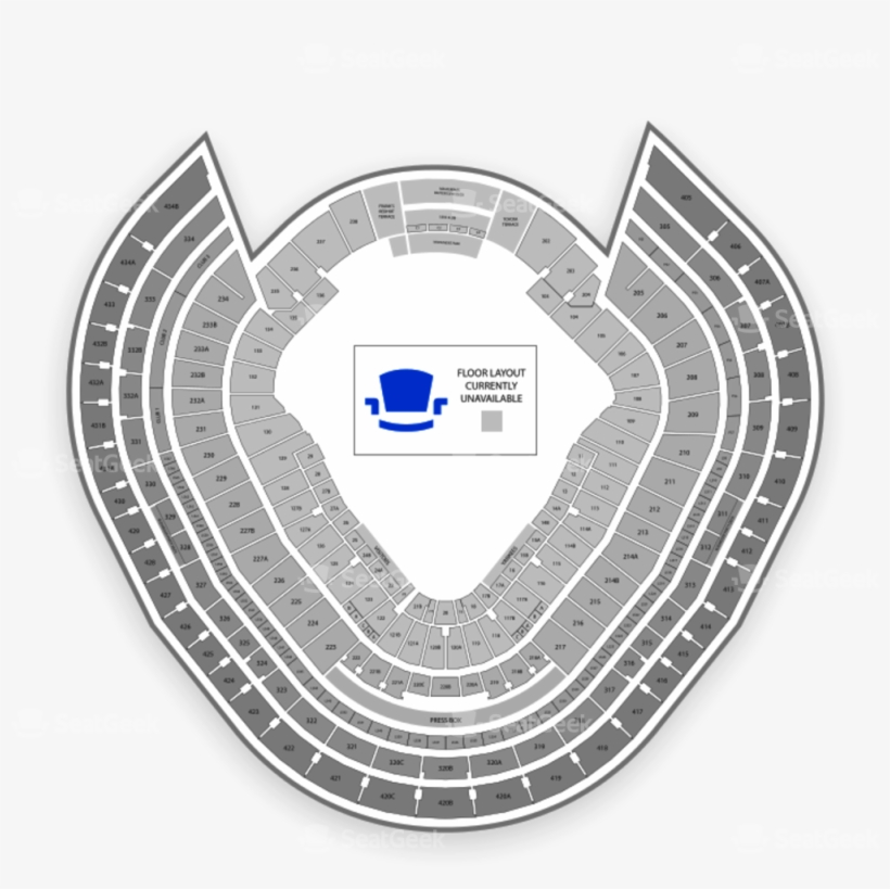 Yankee Stadium Seating Chart Parking Map Seatgeek Png ...