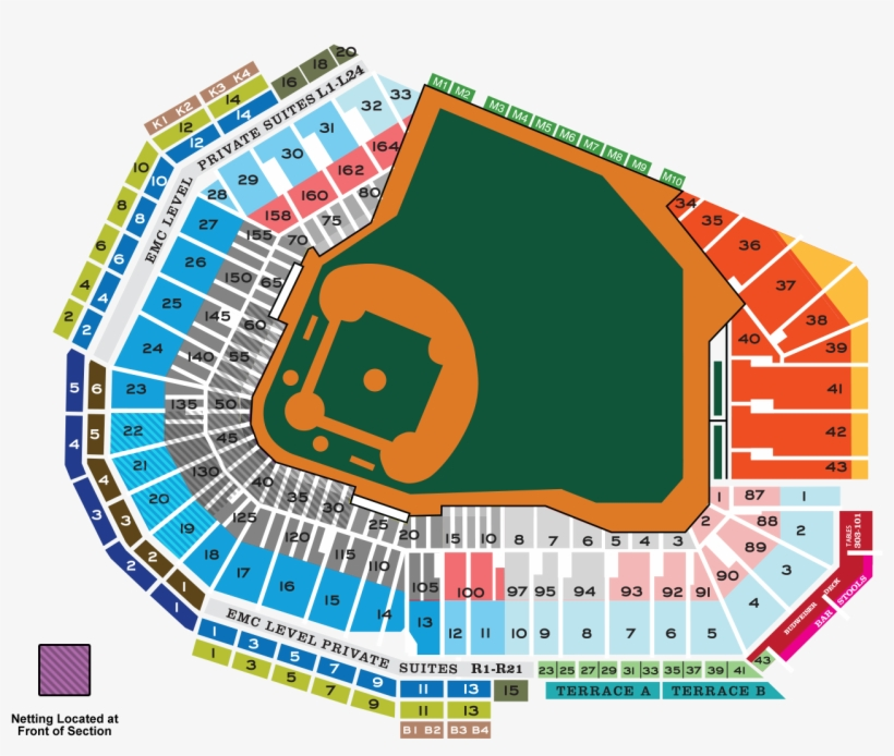 Seating map red sox seating chart transparent png 1400x1050