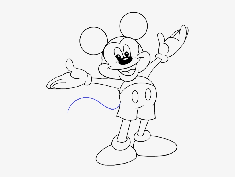 How To Draw Mickey Mouse Mickey Mouse Pictures Drawing Transparent Png 678x600 Free Download On Nicepng