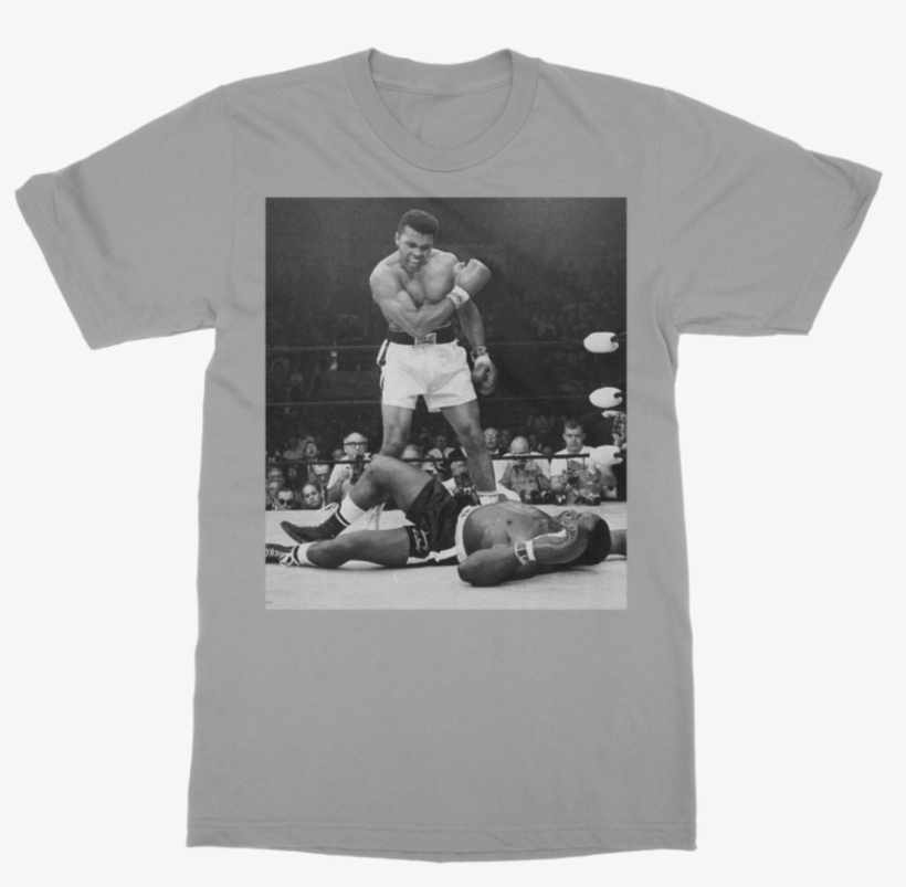 Muhammad Ali Knocks Out Sonny Liston Adult T Shirt Boxing Champ
