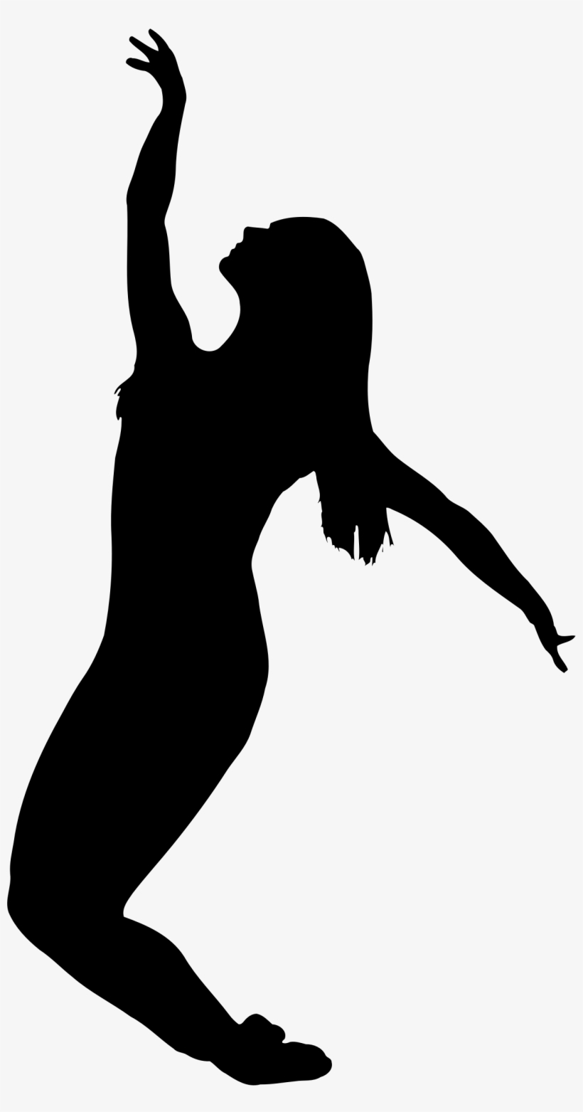 Clipart Dancer Silhouette Silhouette Fille Qui Saute Transparent Png 1280x2378 Free Download On Nicepng