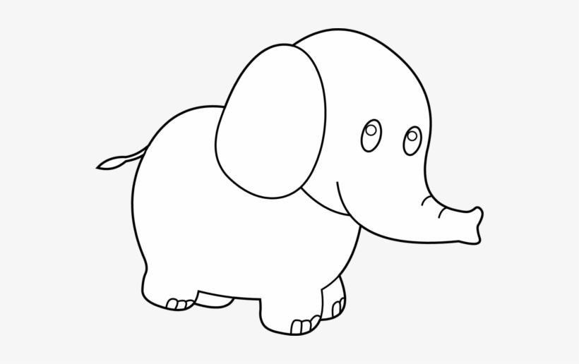 Cute Elephant Clipart Black And White Baby Elephant For Coloring Transparent Png 550x436 Free Download On Nicepng Over 61 elephant clipart png images are found on vippng. cute elephant clipart black and white