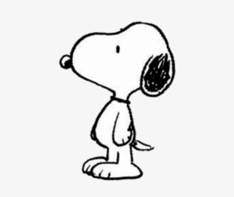 Snoopy Drawing - Snoopy Coloring Pages Simple Transparent ...