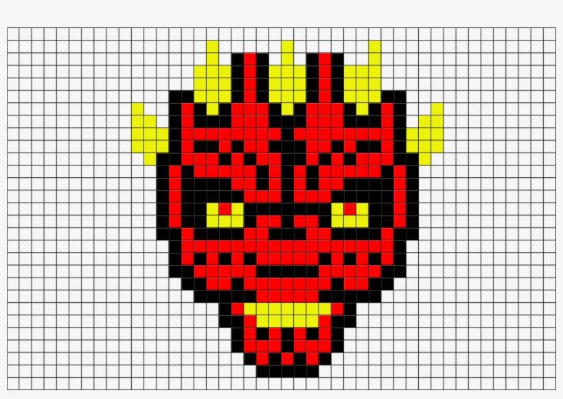 Pixel Art Star Wars Dark Maul Transparent Png 880x581