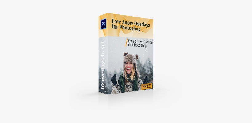 Free Snow Overlay For Photoshop Cover Box - Adobe Photoshop