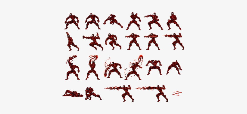 Spidermanthelethalfoes Boss Carnage Sheet Spiderman Sprite Sheet