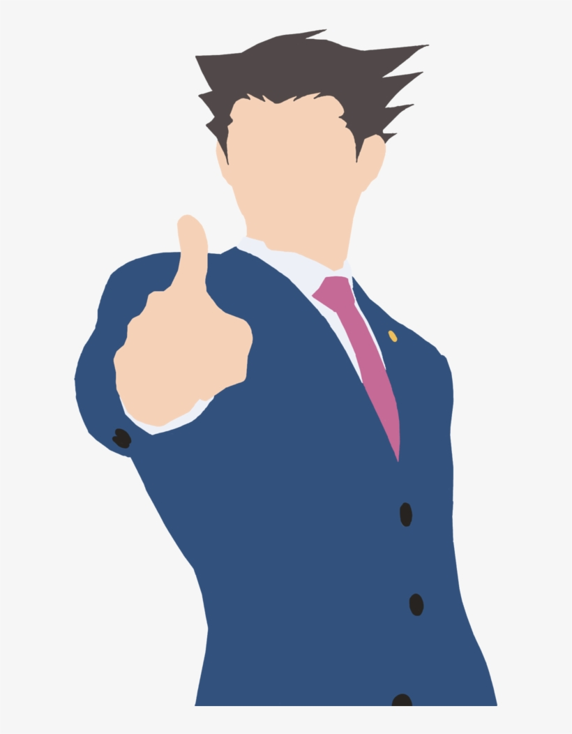 Phoenix Wright Ace Attorney Minimalist Art Transparent Png