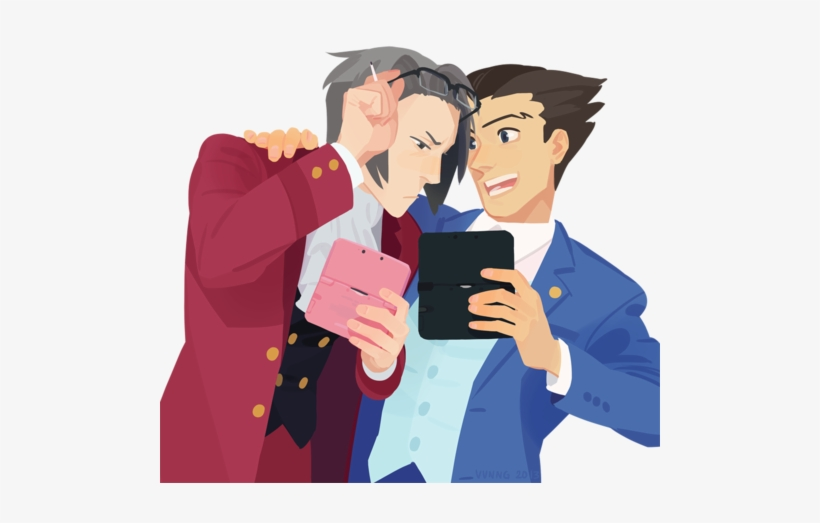 Ace Attorney Phoenix Wright And Miles Edgeworth Image Phoenix