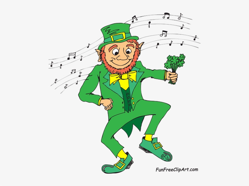 Sunday March 1 Dancing Leprechaun Transparent Png 500x541