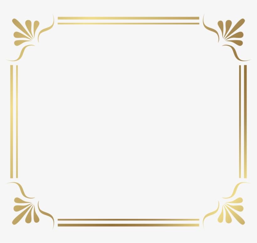 Gold Border Frame File - Transparent Page Border Png