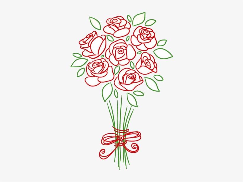 Ramo De Flores Dibujo Png