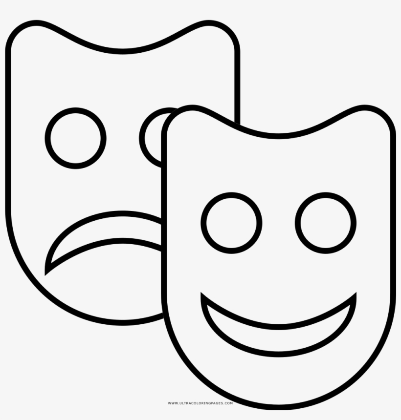 Clever Theater Coloring Pages Page Ultra Masks Theatre Line Art Transparent Png 1000x1000 Free Download On Nicepng