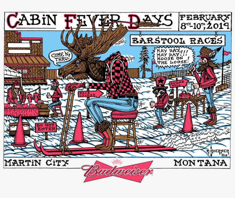 Cabin Fever Days The World Famous Barstool Ski Races Cartoon Transparent Png 850x629 Free Download On Nicepng