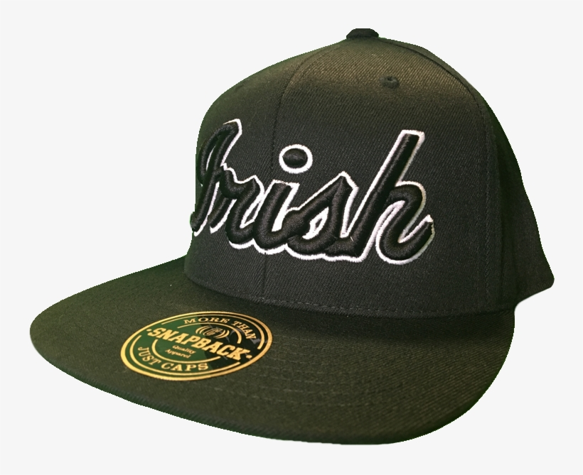 8dadb2c9c57e6 Irish Cap Big Script Snapback Black And White More Transparent PNG ...