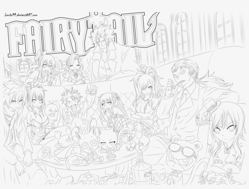 Fairy Tail Coloring Pages Sketch Transparent Png 1057x755 Free Download On Nicepng