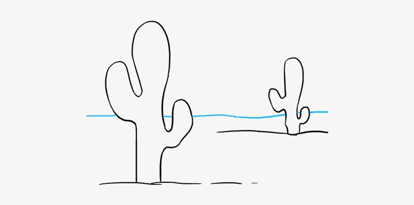 How To Draw Cactus - Drawing Transparent PNG - 680x678 - Free