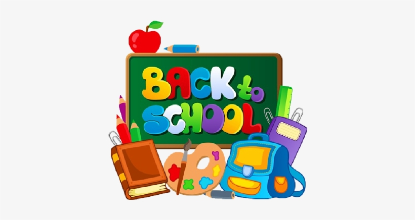 Back to school transparent. Monday friday am clipart