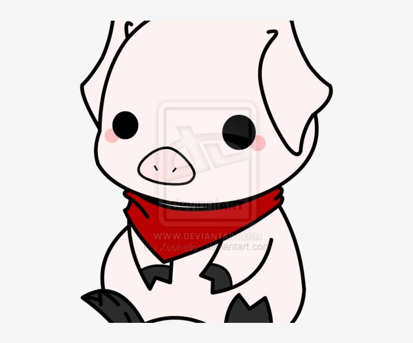 Cute Pig Chibi Pig Drawing Transparent Png 600x600 Free