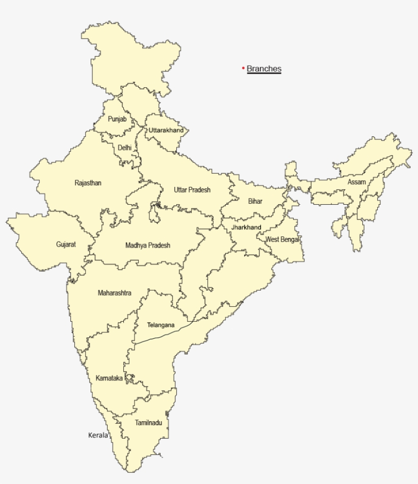 Contact Us High Resolution High Quality India Map Transparent Png - India-us-map