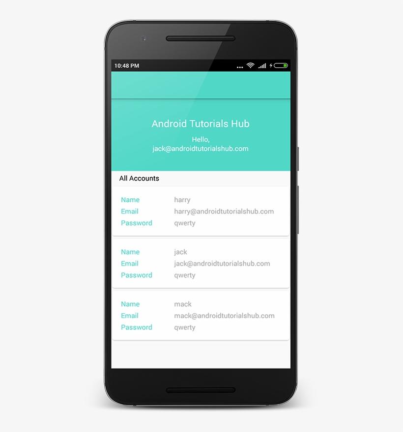User List Screen After Login - Registration Form Android