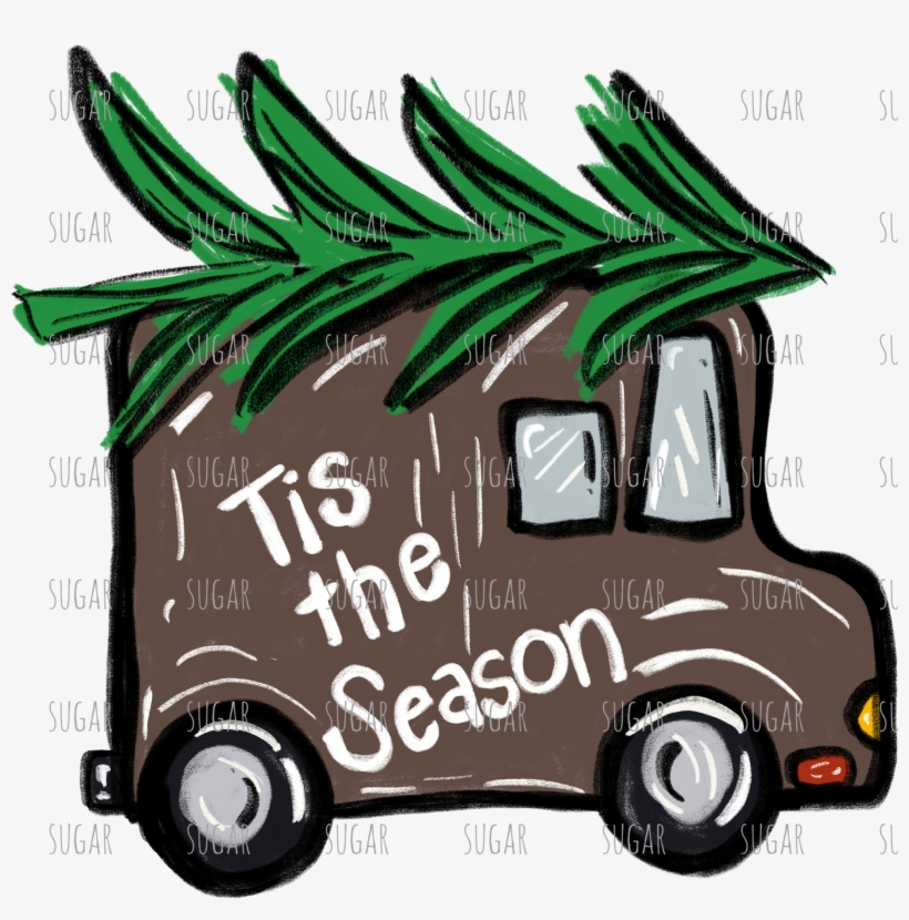 Tis The Season Truck Christmas Mail Truck Clipart Transparent Png 2048x1975 Free Download On Nicepng