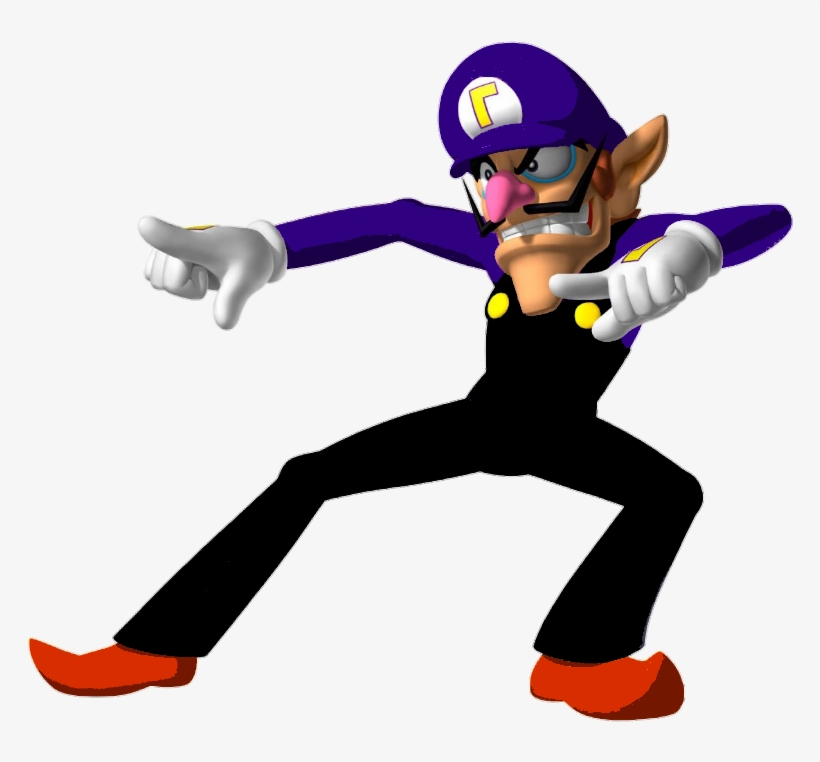 Waluigi high resolution. Wario and transparent png